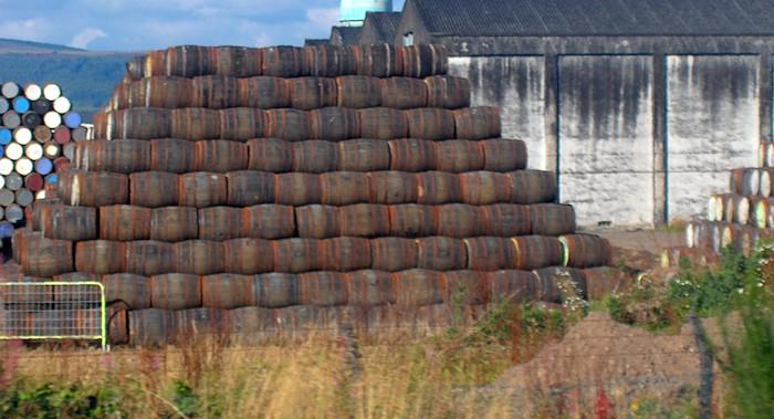 Whisky aging at a Scottish distillery (image via Scotch Whisky Association