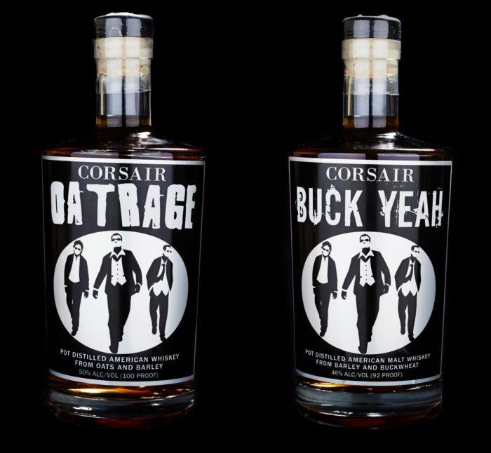 Corsair's buckwheat whiskey, at right (image via Corsair)