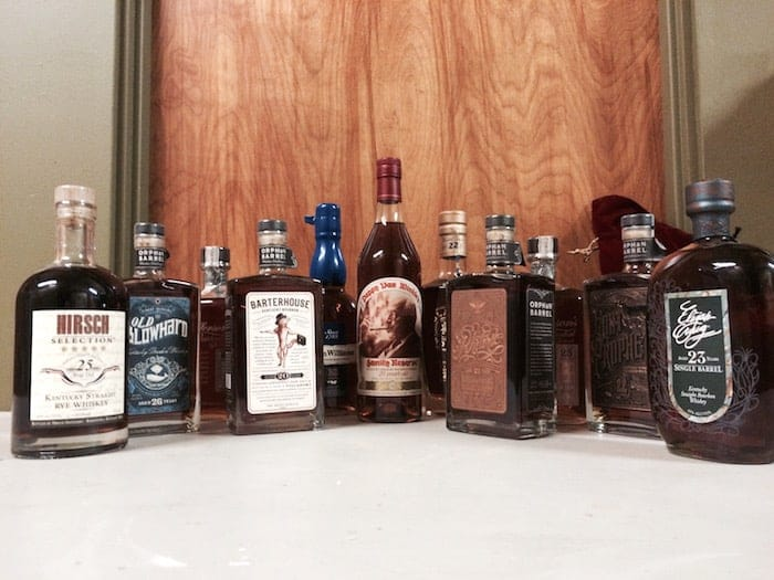 20+ year American bourbons, ryes
