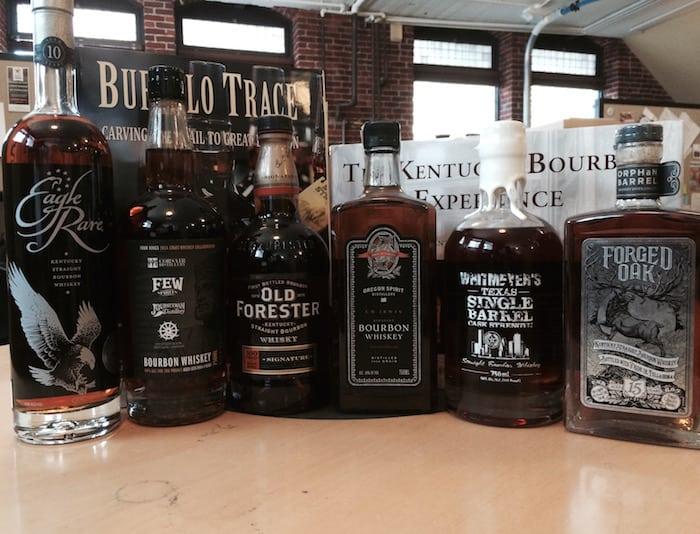 Various bourbons