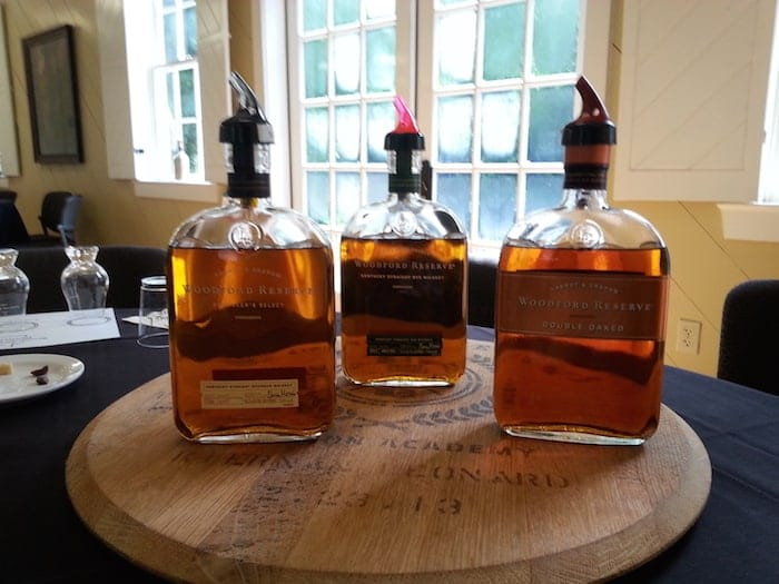 Woodford Reserve whiskies