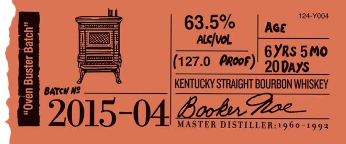 Booker's Bourbon Batch 2015-04