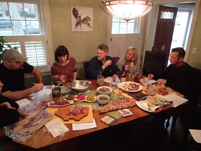 Discussing the finer points of Kentucky bourbon and country ham pairing (image copyright The Whiskey Wash)