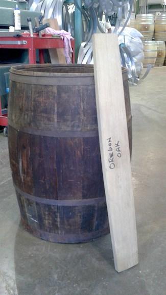Oregon oak barrel