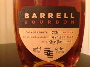 Barrell Bourbon 005