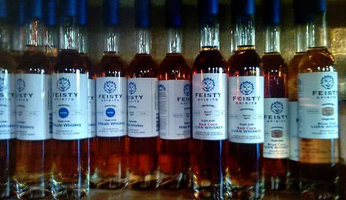 Feisty Spirits Experimental Grains whiskies