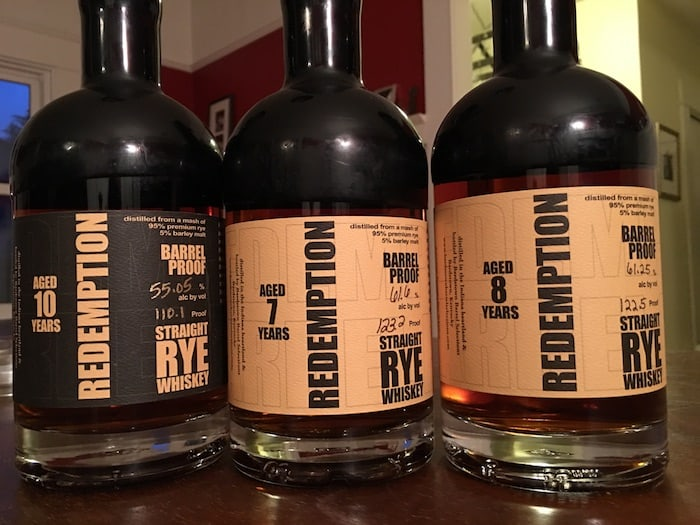 Redemption Aged Barrel Proof Straight Rye