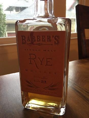 Barber's Single Malt Rye
