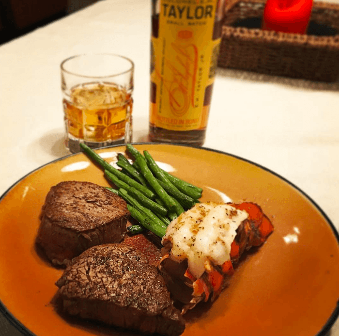 Whiskey and steak