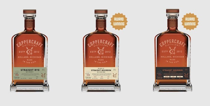 Coppercraft whiskeys