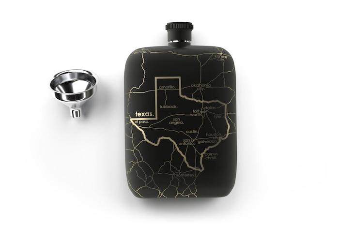 Well Told State Maps Pocket Flask