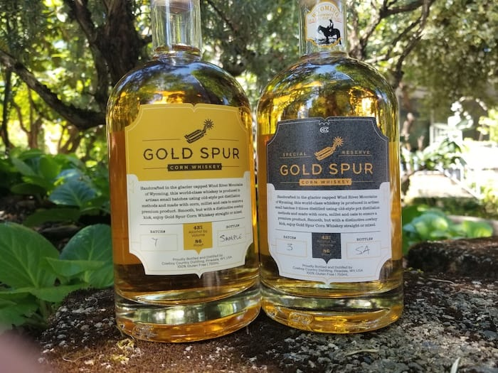 Goldspur Corn Whiskey and Reserve