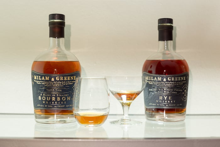 Milam & Greene whiskeys