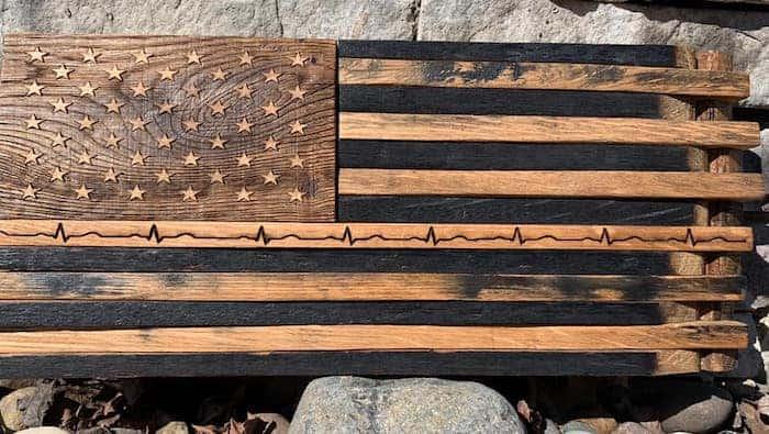 America One Heartbeat flag