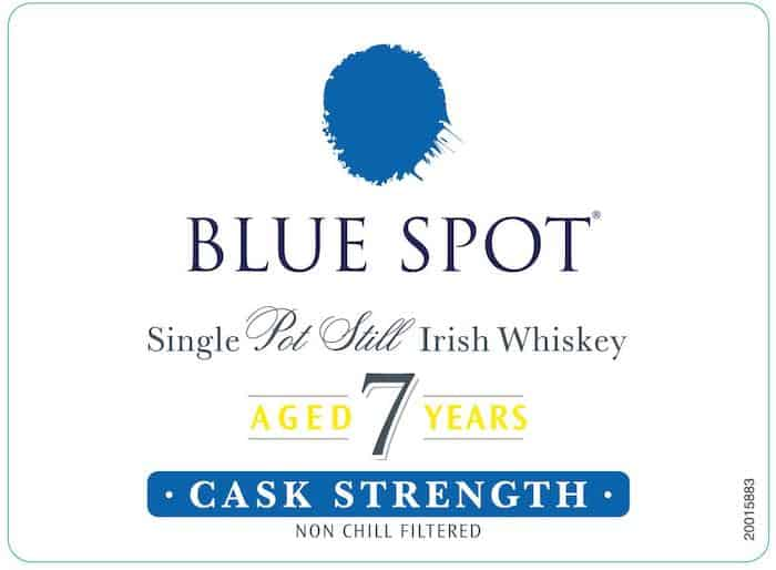 Blue Spot Pot Still Label