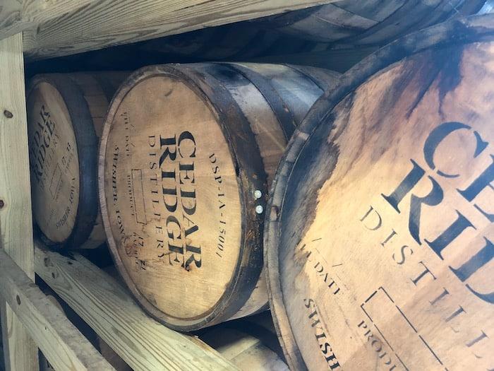 Cedar Ridge whiskey aging
