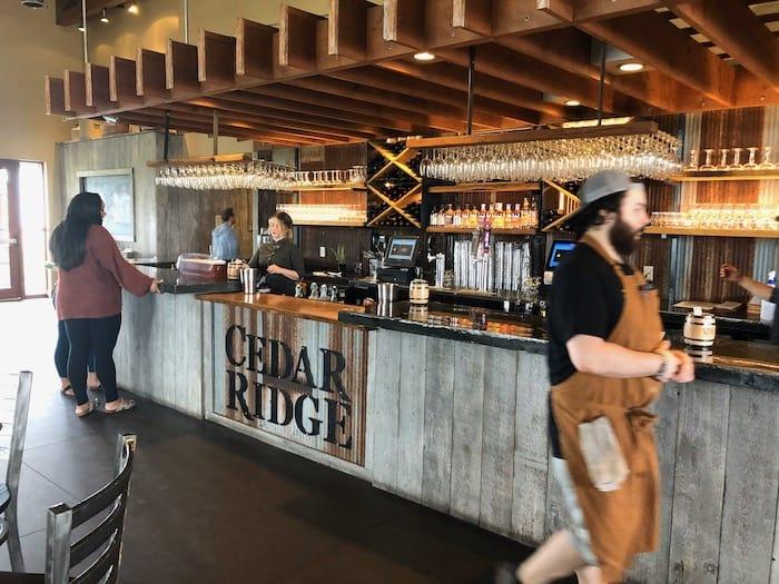 Cedar Ridge tasting bar