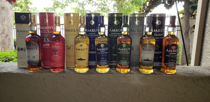 Amrut whiskies