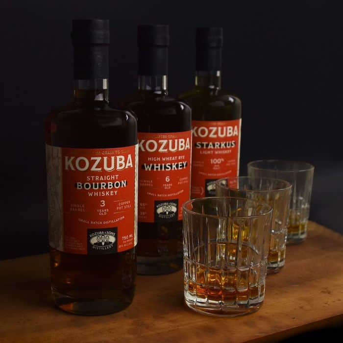 The whiskeys of Kozuba & Sons Distillery