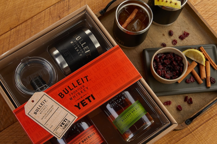 Bulleit Frontier Whiskey Yeti Holiday Gift Pack