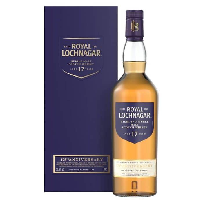Royal Lochnagar Single Malt Scotch Whisky Aged 17 Years 175th Anniversary