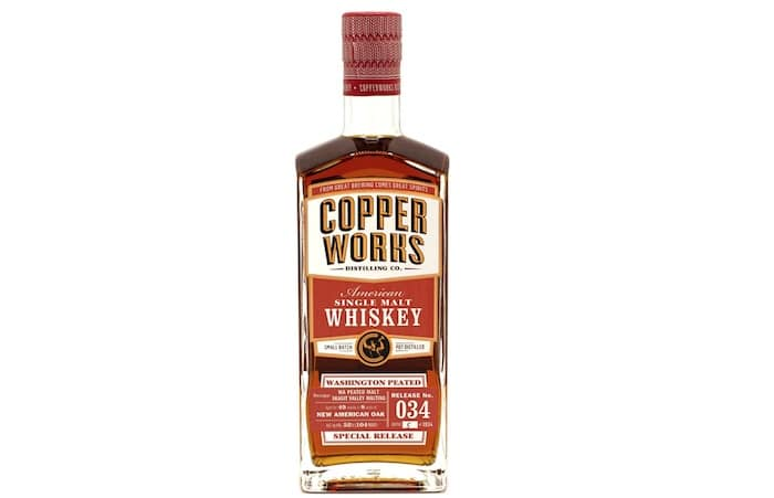 Copperworks Washington Peated Whiskey