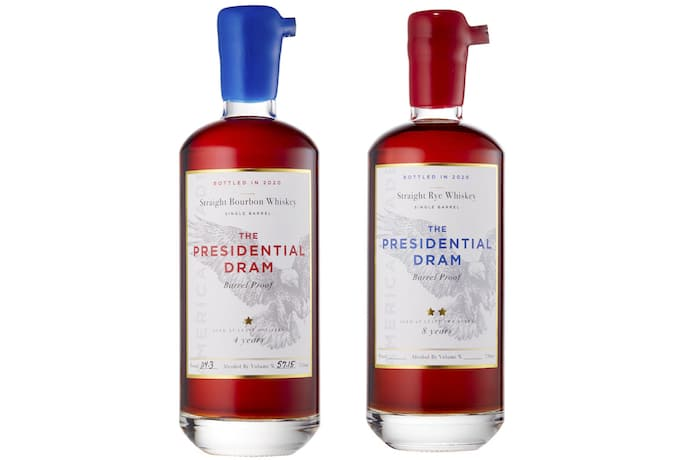 Presidential Dram Single Barrel Rye and Single Barrel Bourbon