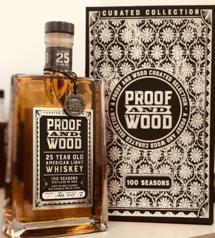 Proof and Wood 100 Seasons 25 Year American Light Whiskey