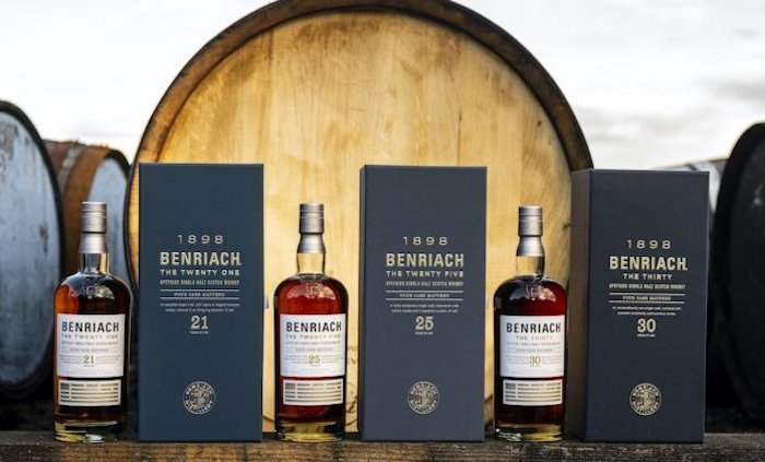Benriach 21, 25 and 30 year old