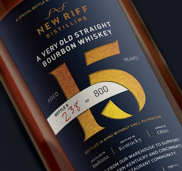 New Riff Relief 15 Year Straight Bourbon Whiskey