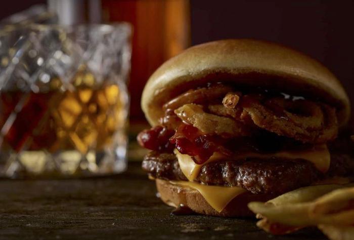 Wendy's Bourbon Bacon Cheeseburger