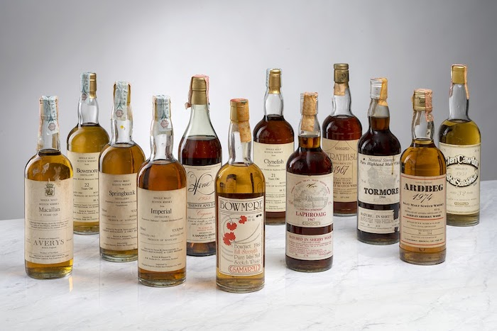 A collection of 60 whiskies from independent bottlers Silvano Samaroli and the Corti Brothers
