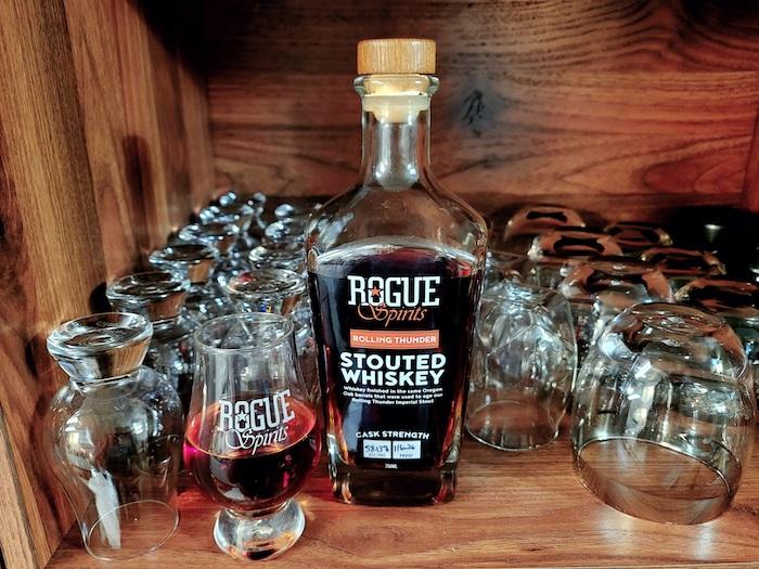 Rogue Spirits Rolling Thunder Stouted Whiskey (image via Courtney Kristjana)