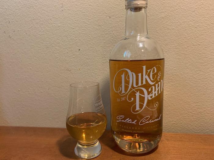 Duke and Dame Salted Caramel Flavored Whiskey (image via John Dover)