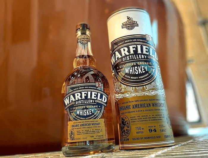 Warfield Organic American Whiskey (image via Warfield Distillery)