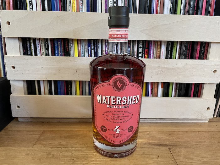 Watershed Straight Bourbon Whiskey Finished in Apple Brandy Barrels (photo via Jerry Jenae Sampson)