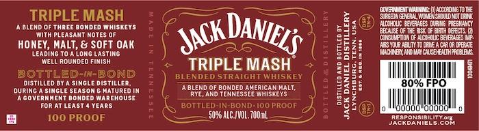 Jack Daniel's Triple Mash Blended Straight Whiskey