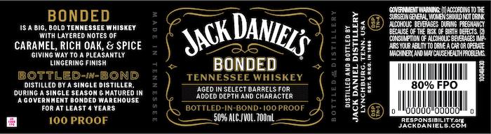 Jack Daniel's Bonded Tennessee Whiskey
