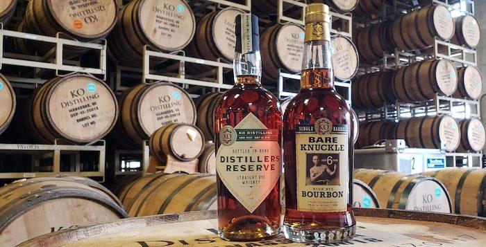 Distiller's Reserve Bottled-in-Bond Rye Whiskey and Bare Knuckle High Rye Bourbon.