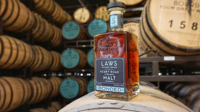 Laws Whiskey House Bonded Henry Road Straight Malt Whiskey