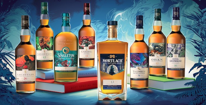 Diageo's 2021 Special Releases Single Malt Scotch Whisky Collection