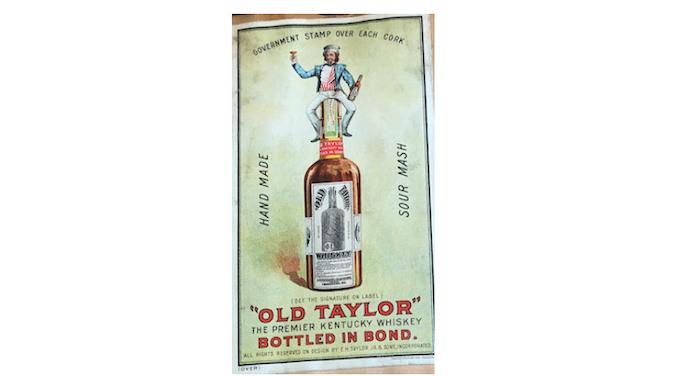 1900 circa Old Taylor display card